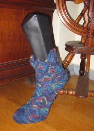 Patchworksocken_blau